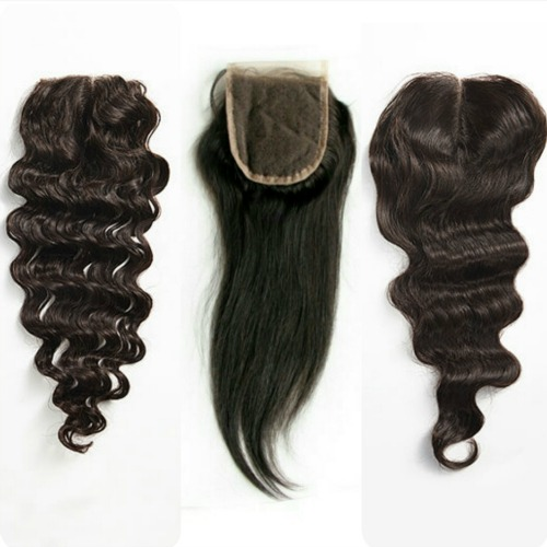 Lace closure curly wavy straight