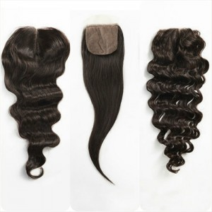 Silk closure wavy straight curly
